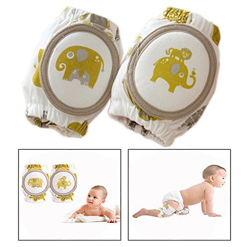 Itian one Pair Unisex Baby Crawling Knee Pads Adjustable Soft Infants Toddler Baby Crawling Knee Protector