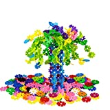 QIYO(TM) 150pcs Building Set Snowflakes Interlocking Gear Connect Educational Engineering Puzzle Toy for Fine Motor Skills Best Ideal Gift Toys for Kids Boys and Girls