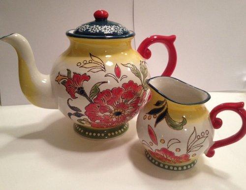 Dutch Wax Artistic Accent Teapot Creamer Coastline Imports