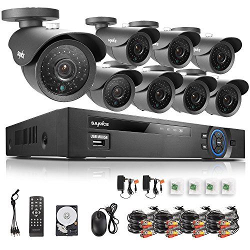 Sannce 8CH HD 1080N/ 720P CCTV DVR 1TB HDD+ 8x 1280*720P 1.0 Megapixels...