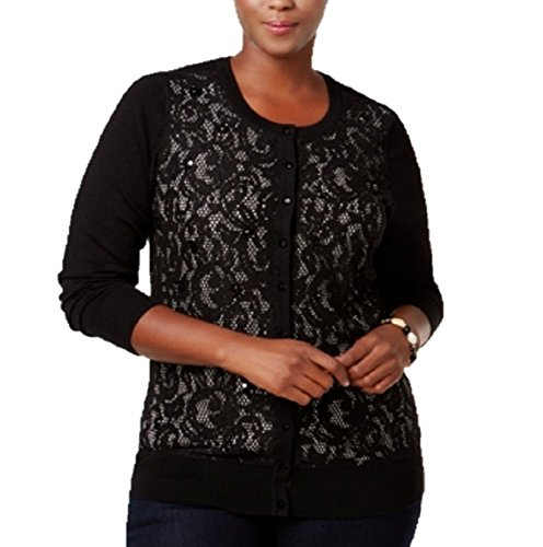 Charter Club Plus Size Lace-Front Cardigan 2X
