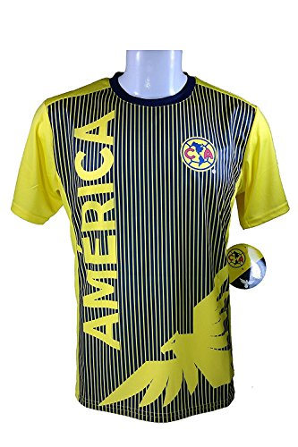 Football America Adult Football (Club America Soccer Official Adult Soccer Training Performance Poly Jersey -J005 Medium)
