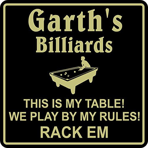 Appealing Signs New Personalized Custom Name Billiards Sign #5 My Table My Rules Beer Pub Gift