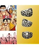 Cosplay One Piece Edward Newgate Monkey·D·Luffy Ring Portgas Ace Skull Ring