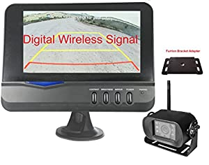 "4Ucam Digital Wireless CCD Camera + 7"" Monitor for Bus, RV, Trailer, Motor Home, 5th Wheels and Trucks Backup or Rear View"