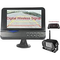 4Ucam Digital Wireless Camera + 7 Monitor + Adapter for Furrion FRCBRKT-BL Pre-install Mounting Kit (FOS48T-BL/FOC12TA-BL) for RV, Trailer, 5th Wheels