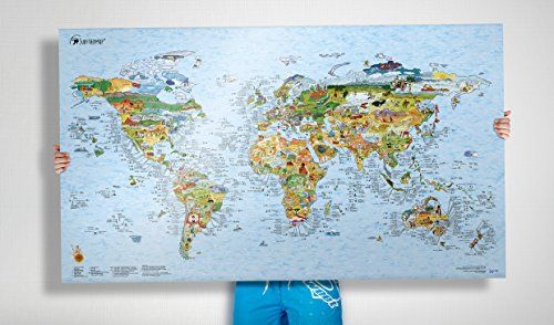 Surftripmap - The Worldmap of Surfing Poster