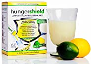 HungerShield Natural Appetite Suppressant Drink Mix 28-(12.7g) Stick Packets, Twist of Lemon-Lime (Pack of 2)