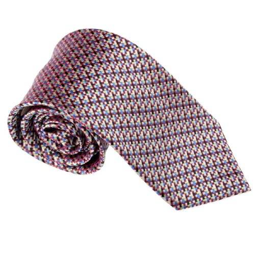T8556 Purple Blue Checkers Woven Silk Tie Fantastic Gift Box Set By Y&G