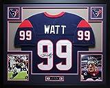 JJ Watt Autographed Blue Texans Jersey
