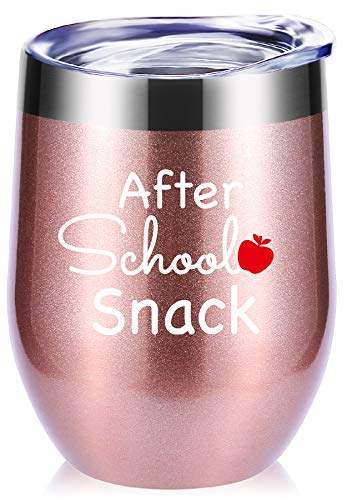 Teacher Gifts.After School Snack Wine Glasses Tumbler With Funny Sayings.Perfect Year End Graduation Gifts,Thank You Gifts for Teachers,Teacher Appreciation Gifts Mug