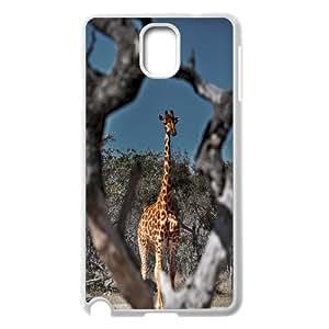 Haygen Framed Giraffe Samsung Galaxy Note 3 Case Cheap for Boys, Samsung Galaxy Note3 Case N9005 [White]