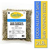 Raw Pumpkin Seed Kernels, 2 LBS by Gerbs – Top 14 Food Allergy Free...