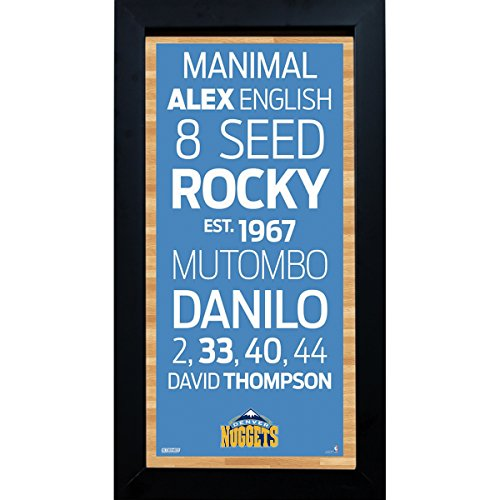 NBA Denver Nuggets Subway Sign 6x12 Framed ()