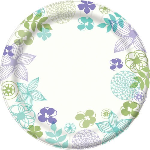 """Dixie Ultra Longwood Gardens Paper Plate 6-7/8"""" 300ct"""
