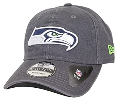 Seattle Seahawks New Era NFL 9Twenty Core Classic Graphite Adjustable Hat from New Era