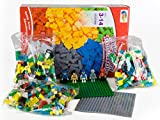 Building Bricks - 1000 Pieces Building Blocks + 5 Minifigures + 2 Base Plates - Tight Fit and Compatible with Lego and All Major Brands