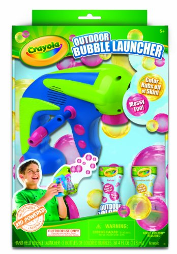Crayola 03 7301 Colored Bubble Launcher