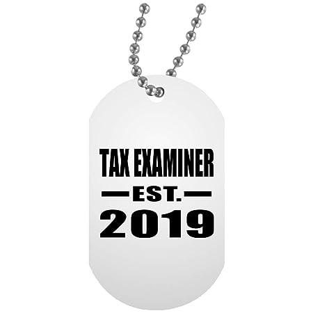 Tax Examiner Established EST. 2019 - White Dog Tag Collar ...