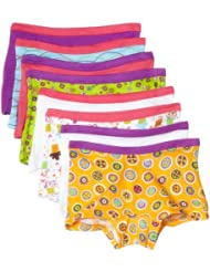 $7.99, Fruit of the Loom Girls' 女大童内裤8条装Boyshort, 8 pk-Multicolor