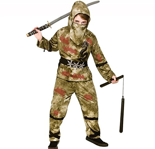 Kids Boys Zombie Ninja Halloween Fancy Dress (Halloween Costumes Age 3-4 Uk)