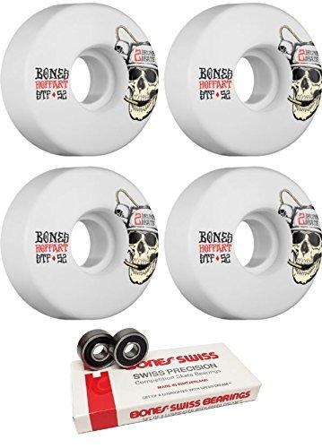 クーポン理論ウナギ52 mm Bones Wheels STFビールマスターWheels with Bones Bearings – 8 mm Bones Swiss Bearings – 2アイテムのバンドル [並行輸入品]