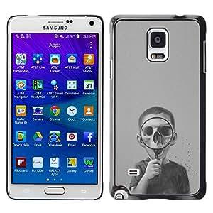 Paccase / SLIM PC / Aliminium Casa Carcasa Funda Case Cover - Skull Deep Dark Biology Science - Samsung Galaxy Note 4 SM-N910F SM-N910K SM-N910C SM-N910W8 SM-N910U SM-N910