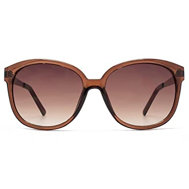06494b4d4e98 M:UK Carnaby Chic Round Sunglasses in Crystal Brown MUK147845: Amazon.co.uk:  Clothing