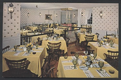 Green Mountain Inn Motel Stowe Vermont Vintage Restaurant Interior Postcard
