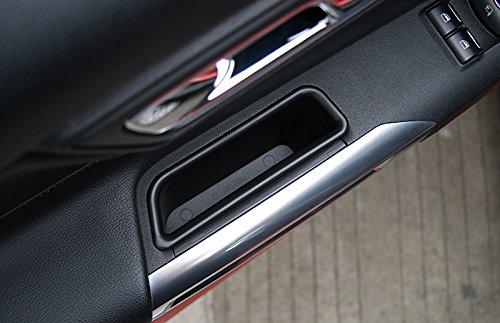 Para Mustang 2015-2018 Interior puerta lateral caja de almacenamiento Holder 2pcs