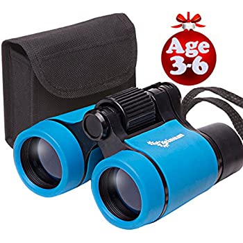 Toy Binoculars for Kids and Toddlers | Safe and Durable | Great Birthday Gift for Baby Boys Girls and Twins | for Party Pretend Play Outdoors and Travel Trips | Best for 3 to 6 yr | Small and Compact