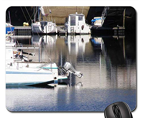 (Mouse Pads - Port Boats Old Ships Wrecks Brittany Sea Holiday)