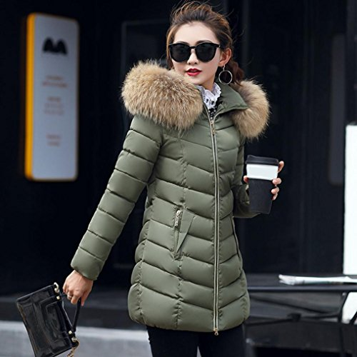 Winter TM Colorful Casual B Slim Army Coat Overcoat Long Jacket Thicker Green Solid Down Fashion Women Lammy Hrtdwxfr
