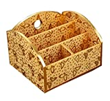 DRAGON SONIC Lovely Practical Wood Desk Storage Box Storage Basket Desktop Receive Container