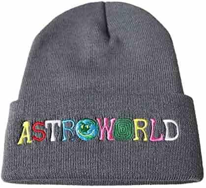 00f54afc8c5 Travis Scott Astroworld Unisex Knitted Hat Wool Hat Sleeve Cap Beanie Hat  Winter Windproof Warm Soft