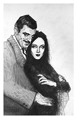 Love like Gomez and Morticia Addams love Giclee