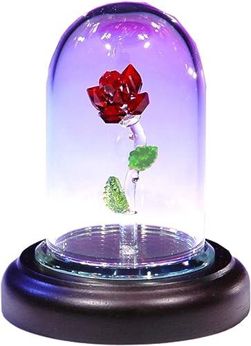Crystal World Lovely Red Rose
