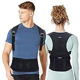 EPROSMIN Back Brace Posture Corrector |Fully Adjustable Support Brace for Men and Women|Improves Posture and Provides Lumbar Back Brace| Lower and Upper Back Pain Relief