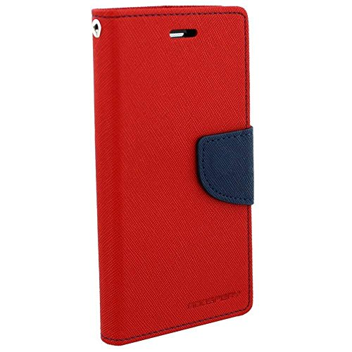 Wallet Mercury Flip Cover for Samsung Galaxy On7 Prime Red