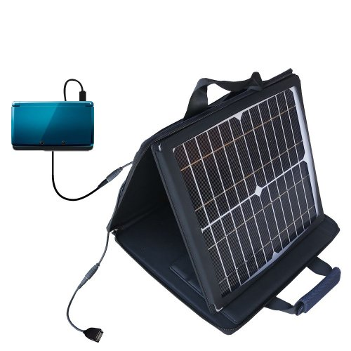 Nintendo 3DS compatible SunVolt Portable High Power Solar Charger by Gomadic - Outlet- speed charge for multiple gadgets by Gomadic