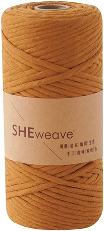 Single Strand Cotton Rope 3mm/×100m Green About 109yd Natural Cotton Macrame Rope for Macrame Supplies,Decor Craft DIY Cord Macrame Cord