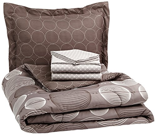 Pinzon by Amazon 5-Piece Bed In A Bag - Twin X-Large,  Industrial Vintage Grey