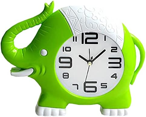 Kylin Express Retro Creative Elephant Noiseless Alarm Clock Kids Birthday Gift Green