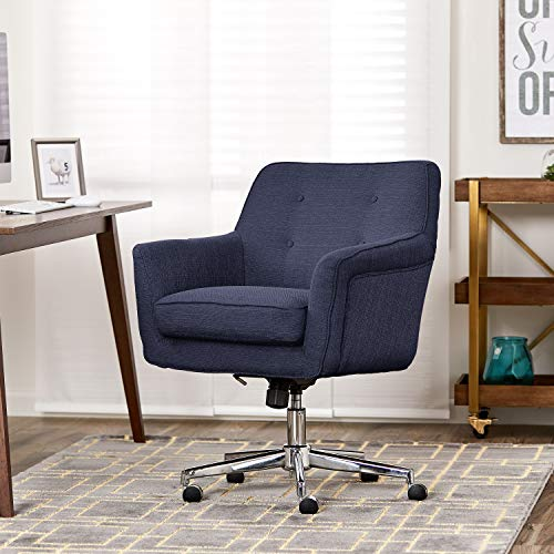 Serta Style Ashland Home Office Chair, Twill Fabric, Blue