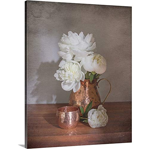 (Gallery-Wrapped Canvas Entitled Vintage Peony Dreams Shadows by Felicity Bradley 19