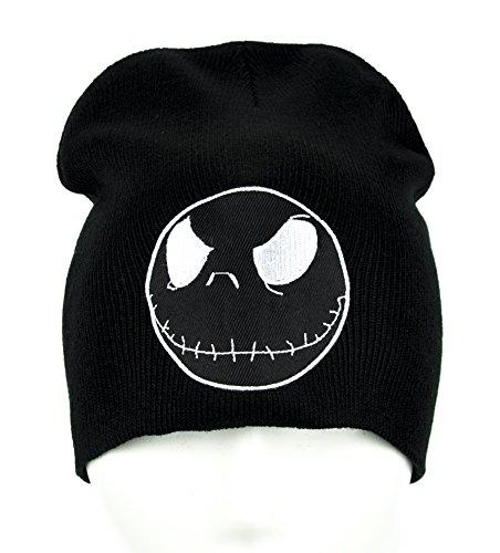 Jack Skellington Negative Face Beanie Clothing Knit Cap