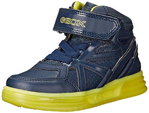 Geox J Argonat Boy C, Zapatillas Altas para Niños Blau (NAVY/LIMEC0749)