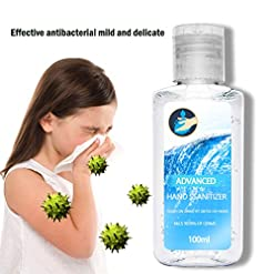 OPALLEY 100ML Alcohol Hand Sanitizer Gel, Anti-Bacterial Kills 99.9% Common Germ Kill Soap Liquid Dispenser Cleanser