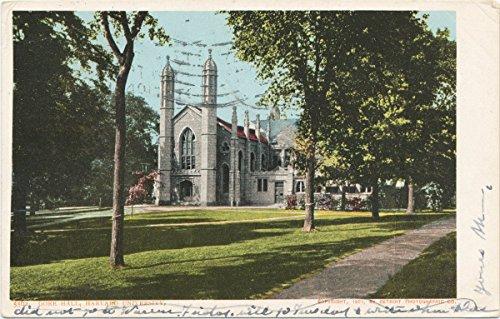 Historic Pictoric Postcard Print | Gore Hall, Harvard University, 1901 | Vintage Fine Art ()