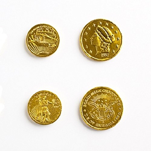 Assorted Liberty Gold Coins Solid Milk Chocolate (1/2